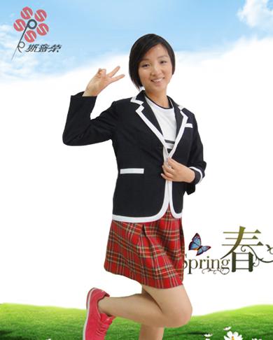 小学夏季校服女款xzxfn-005