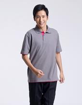 男T恤修身短袖浅色polo衫-006