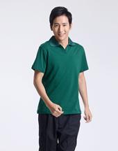 T恤修身短袖墨绿色polo衫-005