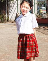 斯普荣中学生女生短裙校服