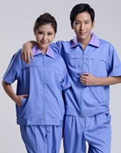 夏季短袖工作服套装-001