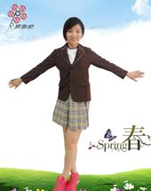 {厂家直销}小学校服夏装女款XJ-006