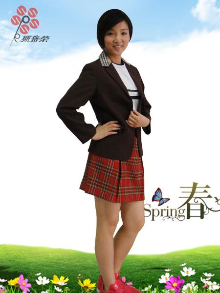 {厂家定制}小学校服夏装女款XJ-007